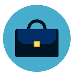 briefcase or suitcase icon round blue background vector image vector image