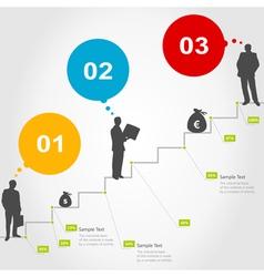Business ladder vector