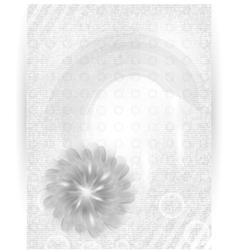 chrysanthemum blue flower card vector image vector image
