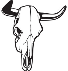 Cow skull icon vector