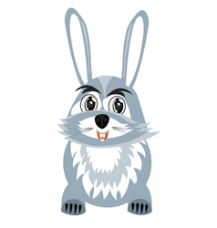 Drawing hare on white background vector image vector image