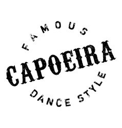 Famous dance style Capoeira stamp vector image