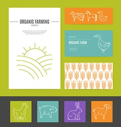 Farming business identity vector