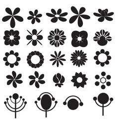 flowers icon for decorative and beauty design vector image vector image