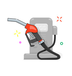 gas station cartoon style vector image