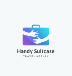 Handy suitcase travel agency abstract sign vector