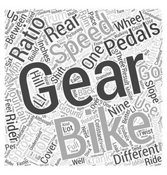 How mountain bike gears work word cloud concept vector