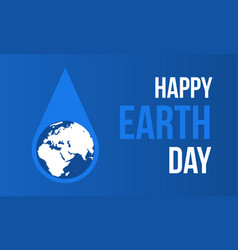 hppy earth day with water style vector image