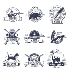 Hunting Vintage Style Emblems vector image