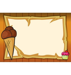 ice cream and a map vector image vector image