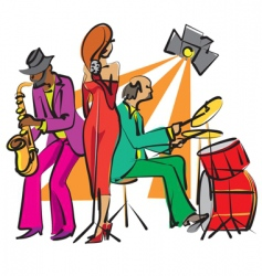 jazz band vector image vector image