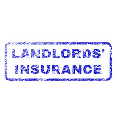 Landlords insurance rubber stamp vector