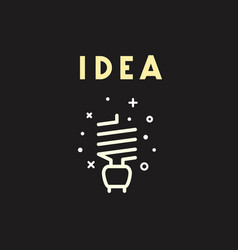 light bulb icon idea concept vector image
