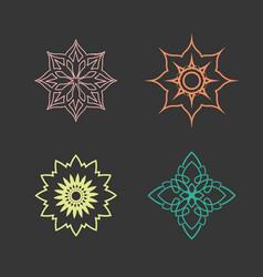 lotus logo design icon set vector image vector image