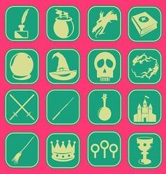 magic icon basic style vector image