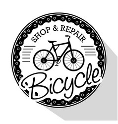 modern bike shop logo vector image