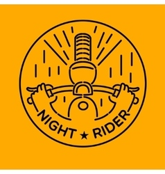 Night rider vector