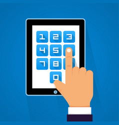 Password screen device vector