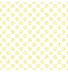 Seamless pattern with dollar sign repeating vector