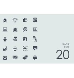 Set of bots icons vector