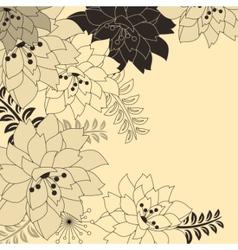 stylish floral beige background vector image vector image