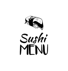 Sushi menu card design template vector image vector image