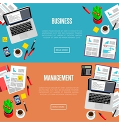 Business management website templates vector