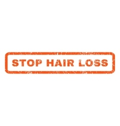 Stop hair loss rubber stamp vector