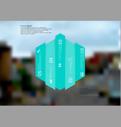 infographic template with hexagon vertically vector image