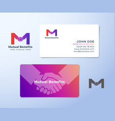 Mutual benefit abstract sign symbol or vector