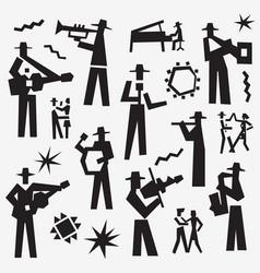 Jazz band doodles vector
