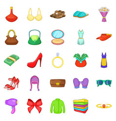 Purchases icons set cartoon style vector
