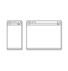 Mobile and desktop browser mockup set vector