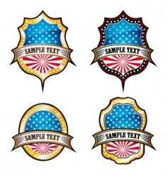 USA vintage emblems vector image