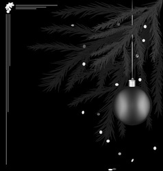 Black white christmas tree vector