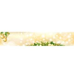 Christmas Header vector image