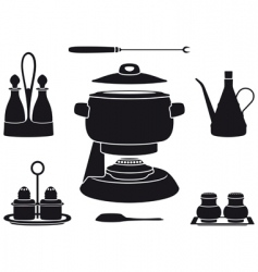 Fondue pot vector