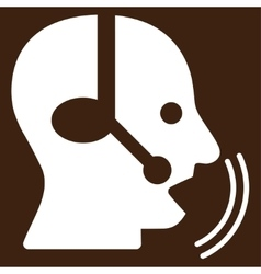 Operator speech icon vector