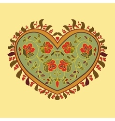 Boho heart tribal style card vector