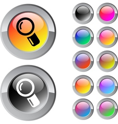 Zoom multicolor round button vector
