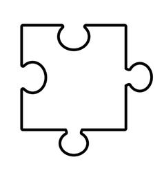 Isolated puzzle piece graphic vector