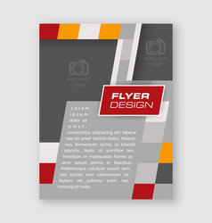 Abstract business flyer template brochure or vector