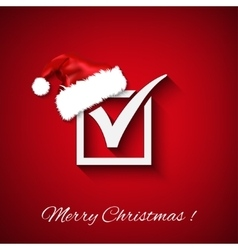 Agreement symbols with christmas hat on red vector