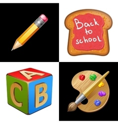 Back to School School Lunch vector image vector image