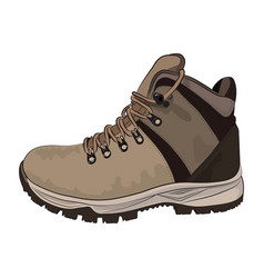 brown winter boots for men on a white background vector image vector image