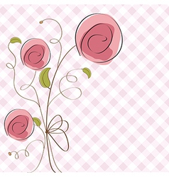 delicate floral background vector image