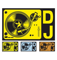 DJ music turntable vector image