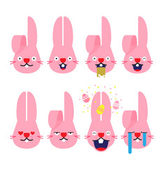 Emojisemoji rabbit bunny emotion cartoon vector
