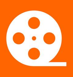 film strip white icon vector image vector image