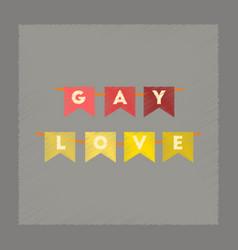 Flat shading style icon gay love garland vector